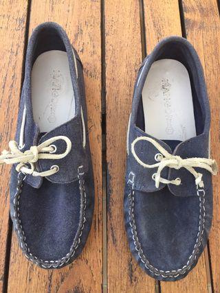 Náuticas Mango color azul marino talla 38