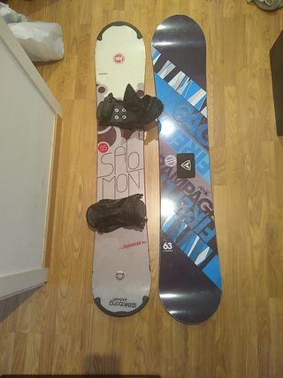 2 tablas Snowboard + fijaciones