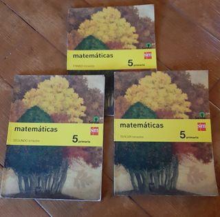 Libros Matemáticas 5° Primaria. SM