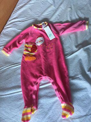 Pijama terciopelo bebé