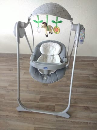 mecedora columpio Polly swing plata CHICCO