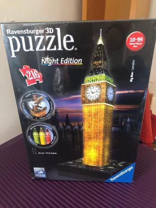 Puzzle Ravensburger 3D edición Big Ben night