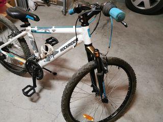 Bicicleta de montaña btwin rockraider de 24 pulgad