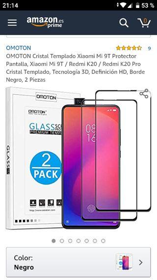 2 Cristales Templados Xiaomi Mi 9T(Nuevo)