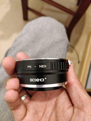 adaptador PENTAX PARA SONY A7 PK - NEX