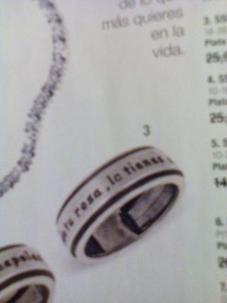 anillo para hombre. tallas 18 hasta la 28