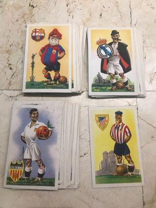 Antiguo lote postales de fútbol jufran