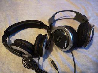 auriculares Sony y Sennheiser