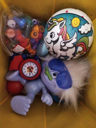 saco con juguetes
