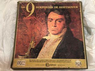 Beethoven conjunto de 7 discos 9 sinfonías
