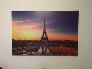 Cuadro de atardecer en Paris