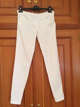 Pantalones blancos de embarazada MIT MAT MAMA