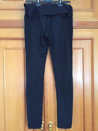 Pantalon vaquero negro embarazada (T 36)
