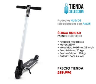PATINETE ELECTRICO SCOOTER MADRID NUEVO