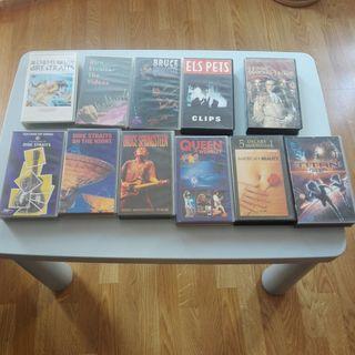 Lote de 11 peliculas y conciertos VHS originales