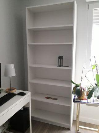 Dos Estanterías Blanca. Billy Ikea. 202x80