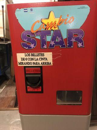 Máquina cambiadora monedas,recreativa, pinball,