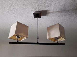 lámpara de techo con dos pantallas