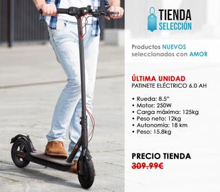 Patinete eléctrico scooter 6.0 tipo Xiaomi Ecogyro