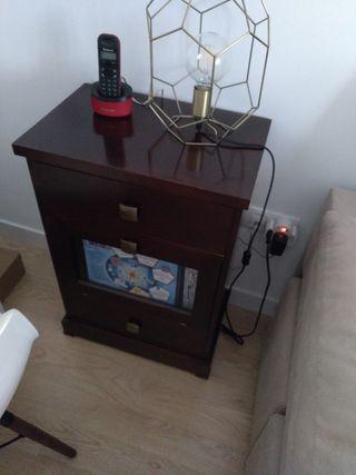 mueble aparador auxiliar wengue