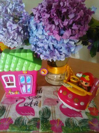 pin y pon +coche y cesta picnic+casa