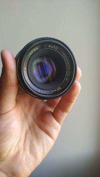Objetivo Manual 50 mm Yashica