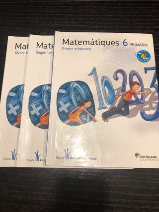 Libro matemáticas tres trimestres 6 primaria
