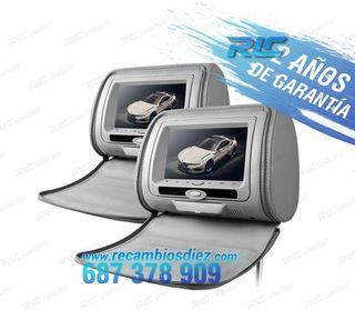 """REPOSACABEZAS 7"""" HD USB SD COLOR GRIS"""