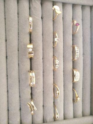 anillos oro con diamantes