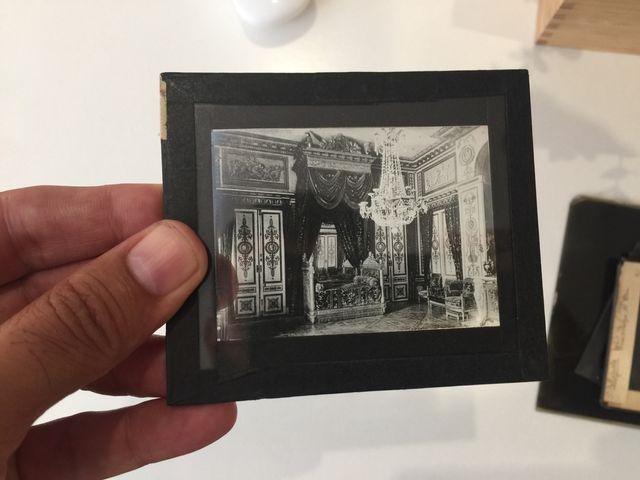 Cinco cliché fotografía negativo cristal