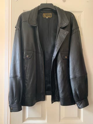 Male Wested leather jacket.