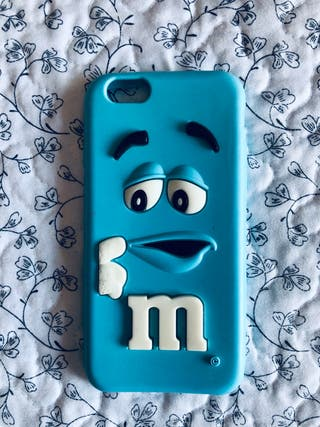 Funda de silicona m&m azul
