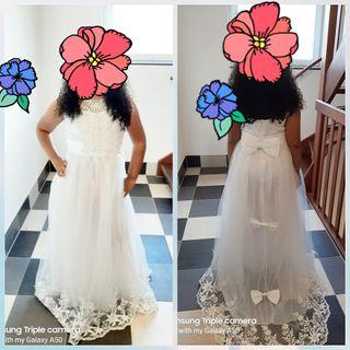 vestido blanco niña para comunión y boda
