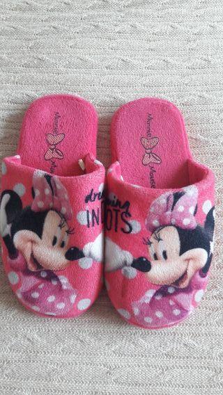 Zapatillas de casa de niña de Minnie