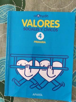 Valores Sociales y Cívicos cuarto primaria