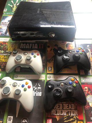 XBOX +20juegos+4 mandos