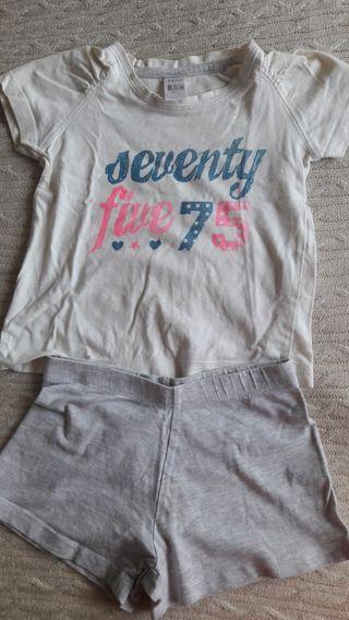 Pijama de verano Zara talla 2-3años