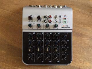 Mesa de mezclas 6 canales USB sonido