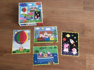 4 puzzles de peppa Pig