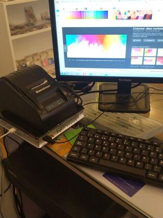 TPV Caja registradora etiquetadora teclado