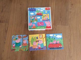 3 puzzles de Peppa Pig