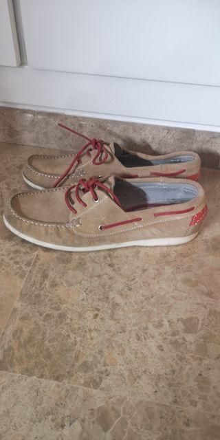 zapatos náuticos sport beige.