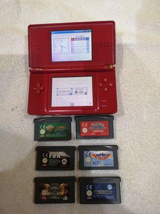 Consola Nintendo Ds lite + 6 juegos