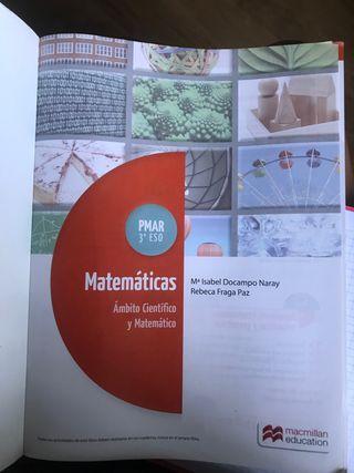 Libro matemáticas PMAR 3 eso. NUEVO