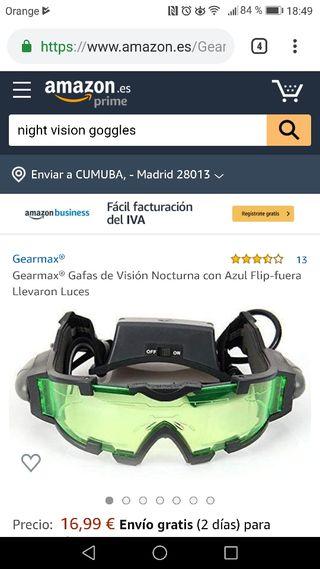 Gafas visión nocturna juguete