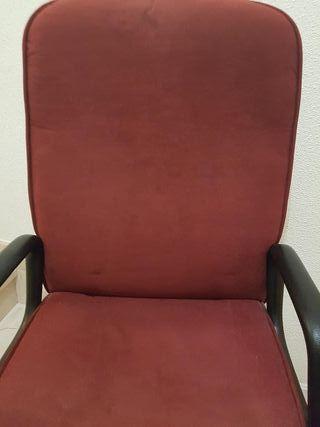 Sillón silla estudio oficina ruedas y reposabrazos