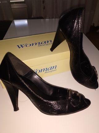 zapatos peep toes 39