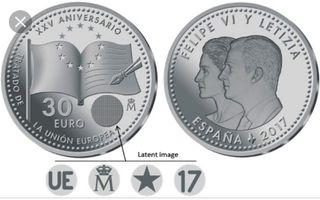 Moneda Felipe VI y Leticia, España 2017