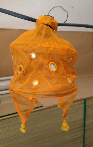Lámparas-farolillos tela plegables