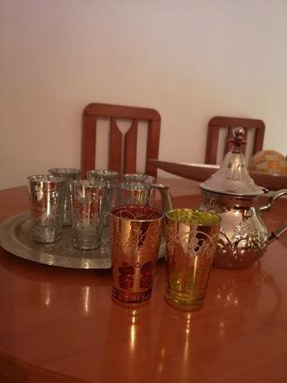 juego de té, traído de Marruecos